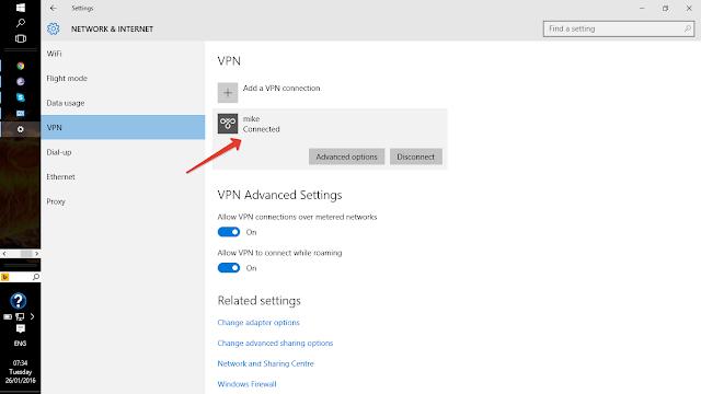 Mikrotik PPTP remote access vpn