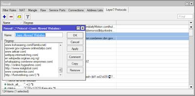 Block website with Mikrotik layer7 protocol